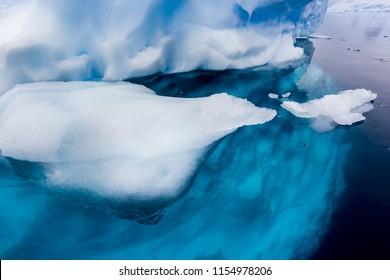 Bright colors of iceberg of Antarctica