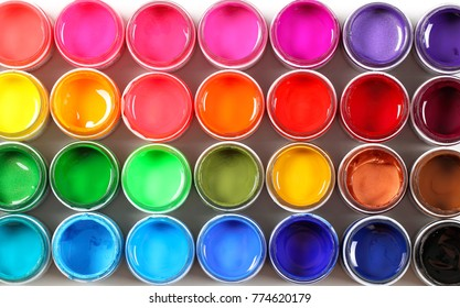 bright colors in jars background image