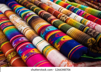 Bright colors of Otavalo market