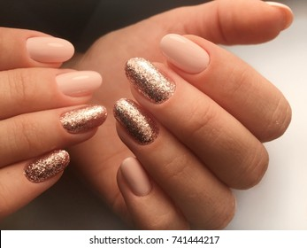 Bright elegance nails manicure