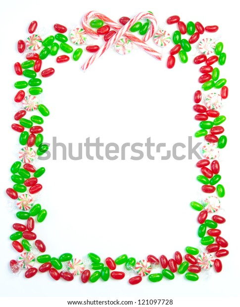 Christmas Page Border.Bright Festive Christmas Page Border Red Stock Photo Edit