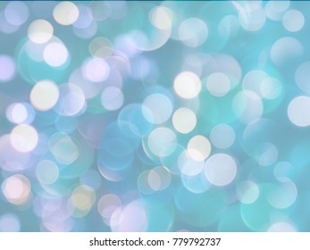 bright festive light blurs blue background