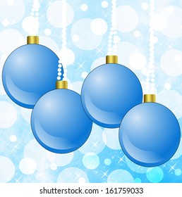 bright festive round new-year baubles, illustration