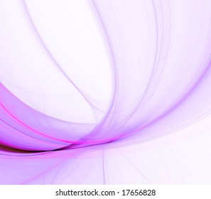 Bright, fibrous, curving energy beam effect - fractal abstract background