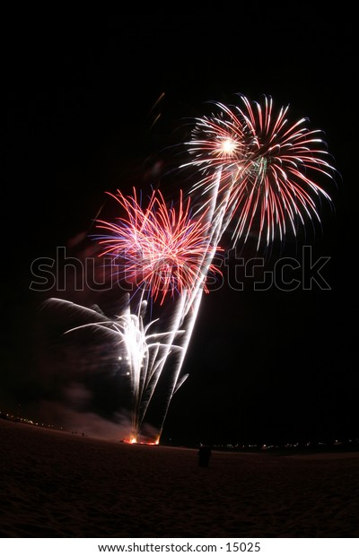 bright fireworks