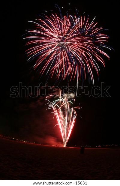 bright fireworks