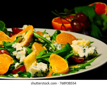 Bright fitness salad. Healthy and nutritious salad.