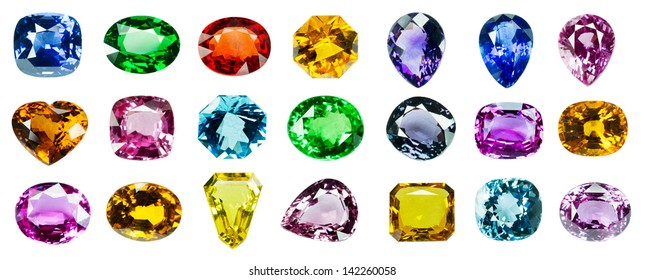 4dddea7cdc634 Bright gems on a white background