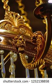 bright gilt chandelier