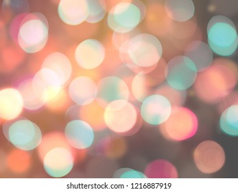 Bright glowing blurred red and blue shining round lights festive illuminated abstract background