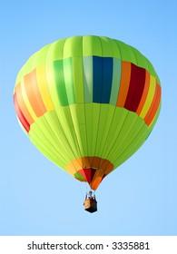 Bright Green Striped Hot Air Balloon