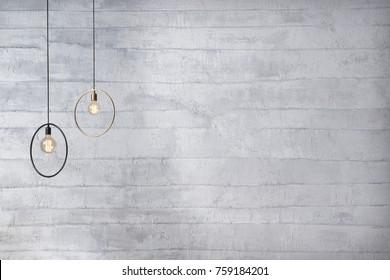bright grey wall empty interior design