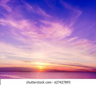 Bright Horizon Fiery Backdrop