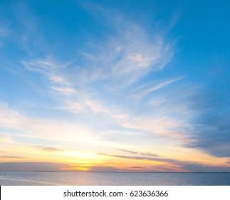 Bright Horizon Setting into the Sea