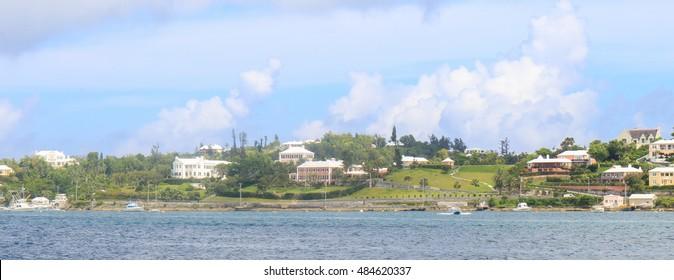 Bright houses in Bermuda