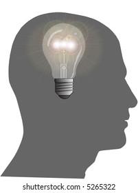 Bright Idea Raster Illustration