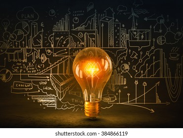 Bright ideas on wall