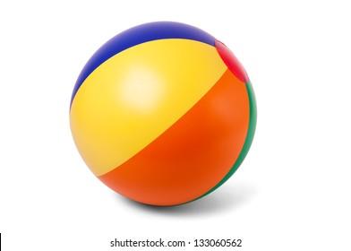 Hell aufblasbarer Ball auf weißem Hintergrund