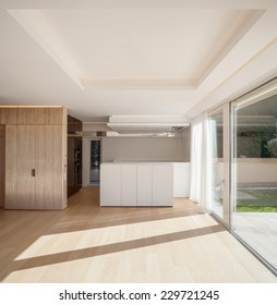 bright, interior, room,