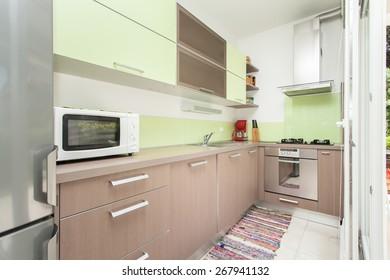 bright kitchen full of light