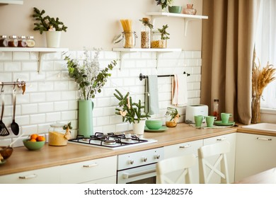 bright kitchen in the new year