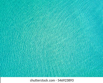 Bright light blue transparent clean Water - Picture taken from above