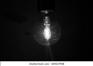 Bright light bulb B&W