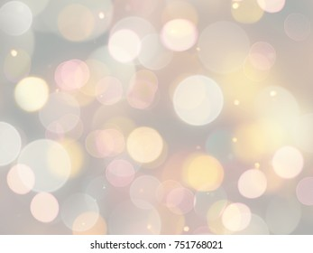 Bright light circles blurred colourful background
