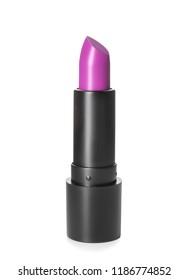 Bright lipstick on white background
