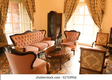 Bright living room of the 18th century