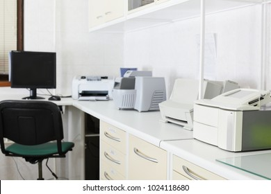 bright and luxury european medical cabinet interior