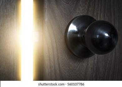 Bright magic light through the open door.