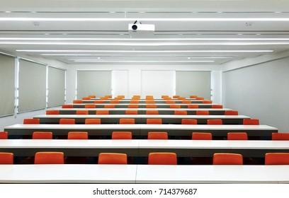 A bright modern classroom