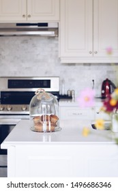 Bright modern kitchen with freshly baked muffins