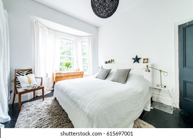 Bright modern, stylish designer bedroom