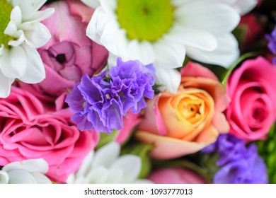 Bright multi-flowers background