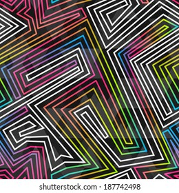 bright neon seamless pattern (raster version)