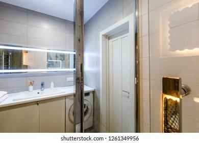 Grey Bathroom Vanity Images Stock Photos Vectors Shutterstock