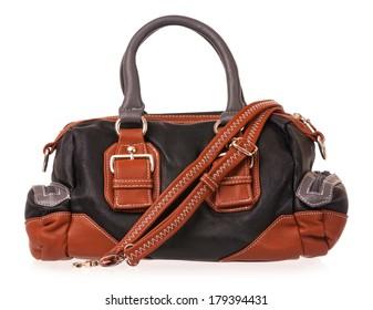 Bright  new handbag isolated on white background cutout