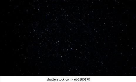 Bright Night Sky and Shooting Star