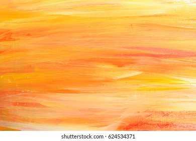 bright orange oil painting background, brush strokes