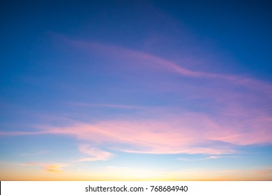 Bright orange and yellow colors sunset sky.