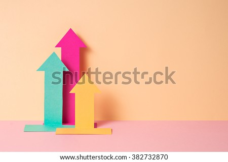 Bright Paper Craft Chart On Orange Stock Photo Edit Now 382732870
