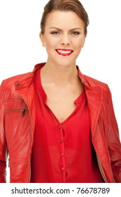 b7000dadd Red Leather Jacket Images, Stock Photos & Vectors | Shutterstock
