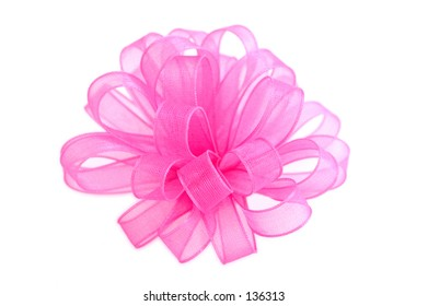 bright pink cloth bow