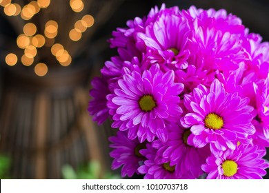 Bright pink flower bouquet