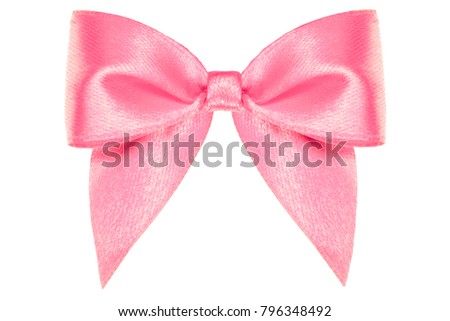 8af61cf21528e Bright Pink Satin Ribbon Bow Tails Stock Photo (Edit Now) 796348492 ...