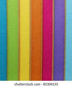 Bright Rainbow Design Fabric