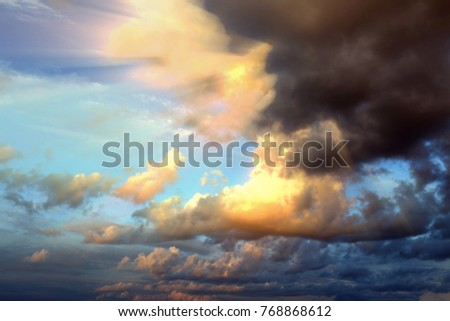 40a2d37137460 Bright Rays Sun Shine Saturated Clouds Stock Photo (Edit Now ...