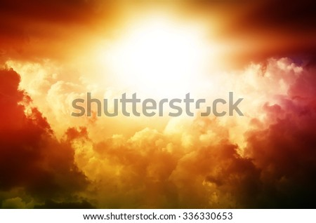 92e1bea3b2d77 Bright Rays Sun Shining Saturated Clouds Stock Photo (Edit Now ...